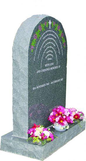 Welsh Blue Grey Granite Lawn Memorial   memorial