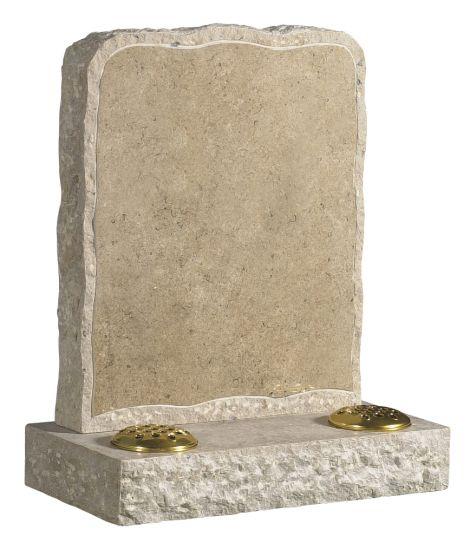 Dorset Purbeck Stone Rustic Lawn memorial  memorial