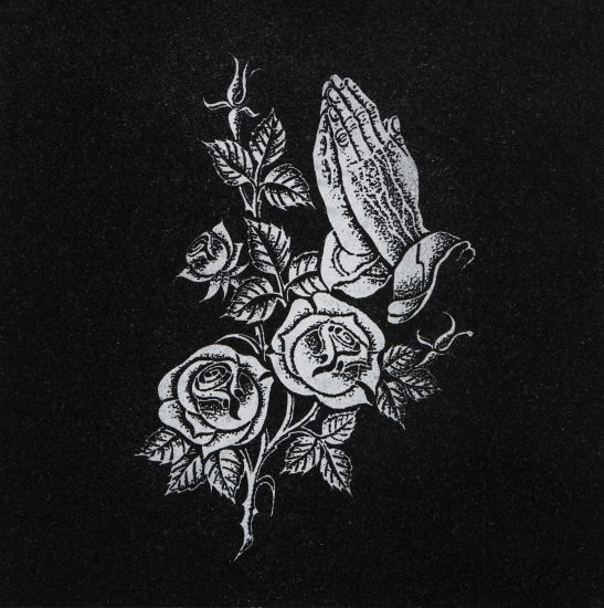 Roses & Praying hands memorial
